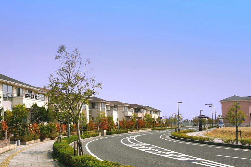 地区計画が制定された整った街並み